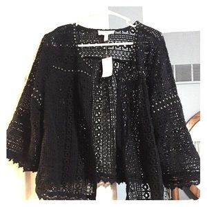 Black Maternity Jessica Simpson Cardigan, XL